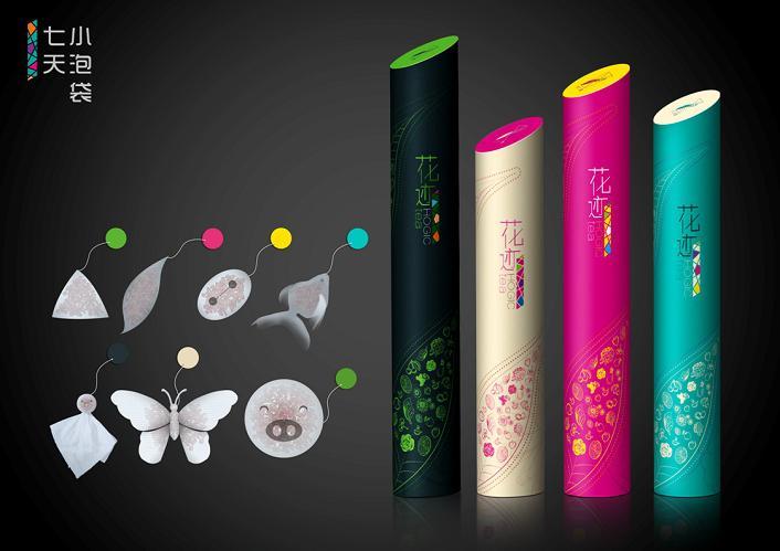 花迹拼配茶包装设计理念 - 茶包装 - 云米创意-让设计